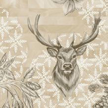 Duni Zelltuchservietten Wild Deer 33 x 33 cm 50 Stück