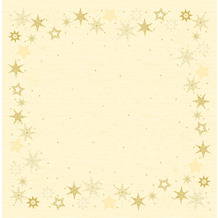 Duni Dunicel-Mitteldecken 84 x 84 cm Star Stories Cream