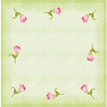 Duni Dunicel-Mitteldecken Love Tulips 84 x 84 cm 100 Stück