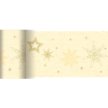 Duni Dunicel-Tischläufer 20 m x 15 cm Star Stories Cream