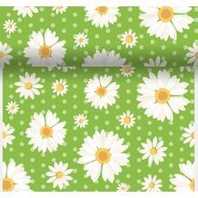 Duni Dunicel-Tischläufer 3 in 1, alle 40 cm perforiert, 0,4 x 4,80 m My Daisy Green