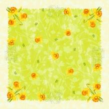Duni Dunicel® Mitteldecke Spring Flowers 84x84 cm 100 Stück