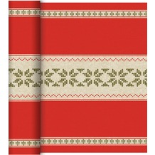 Duni Dunicel®-Tischläufer Tête-à-Tête Urban Yule Red 24 x 0,4 m 20 Abschnitte je 1,20 m lang, 40 cm breit, perforiert