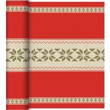 Duni Dunicel® Tête-à-Tête Urban Yule Red 40 x 120 cm 20 Stück per Rolle, perforiert
