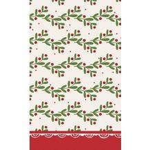 Duni Dunicel Tischdecken Happy Holly 120 x 180 cm 1 Stück