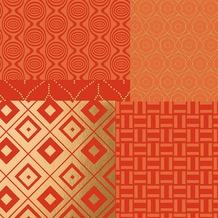 Duni Dunilin® Servietten 40 x 40 cm Geopatch Mandarin, 12 Stück