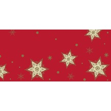 Duni Mitteldecken aus Dunisilk+ 84x84 cm Glittering Stars red, 20 Stück