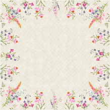Duni Dunisilk-Mitteldecken Floret 84 x 84 cm 20 Stück