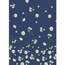 Duni Dunisilk® Tischdecken Pretty Daisy Blue 138 x 220 cm 1 Stück