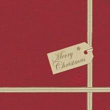 Duni Dunisoft-Serviette 20 x 20 cm Christmas gift, 180 Stück