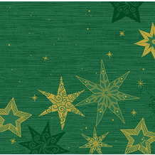 Duni Dunisoft-Servietten 40 x 40 cm Star Stories Green