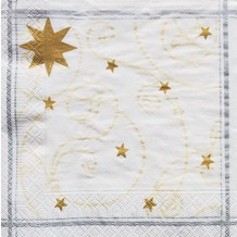 Finess Finess-Servietten 33x33cm 3-lagig 30er Happy Star white
