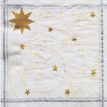 Finess Finess-Servietten 33x33cm 3-lagig 30er Happy Star white