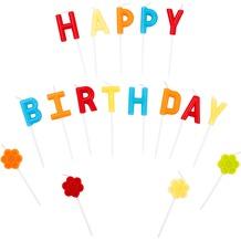 Duni Geburtstagskerzen Happy Birthday 7 cm 17 Stück