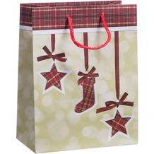 Duni Geschenktüten Trend 17,8 x 22,9 x 9,8 cm Plaid
