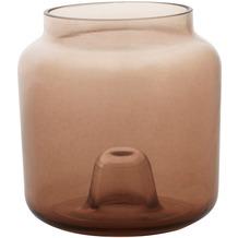 Duni Glas-Kerzenhalter Double, 95x90mm,greige, 4 Stück