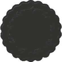 Duni Glasuntersetzer 8lagig Uni Romance schwarz, Ø 9 cm, 250 Stück