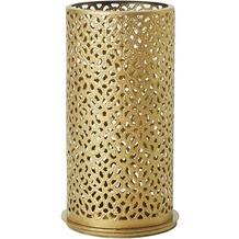Duni Kerzenhalter Bliss gold, aus Metall für Maxi-Teelichter oder LED 140x75mm