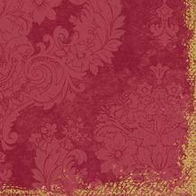 Duni Klassik-Servietten 4 lagig 1/ 4 Falz 40 x 40 cm Royal Bordeaux, 50 Stück
