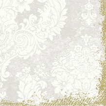 Duni Klassik-Servietten 4 lagig 1/ 4 Falz 40 x 40 cm Royal White, 50 Stück