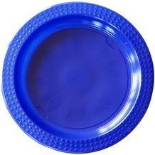 Duni Kunststoff-Teller Colorix, Combi-Pack ø 22 cm /  17 cm, blau/ hellblau, je 10 Stück