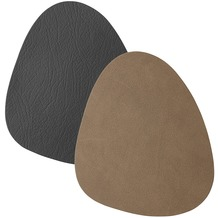 Duni Leder Untersetzter 11 x 13 cm black/ brown