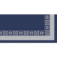 Duni Mitteldecken aus Dunisilk®+ 84 x 84 cm Winter feeling blue, 20 Stück
