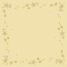 Duni Mitteldecken Motiv Walk of Fame Cream 84 x 84 cm 100 Stück