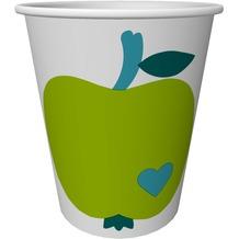 Duni Pappbecher Graziela Motiv Apple Green & Blue 24 cl