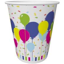 Duni Pappe Becher 20 cl Balloons & Confetti, 10 Stück