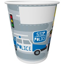 Duni Pappe Becher Police 20 cl 10 Stück
