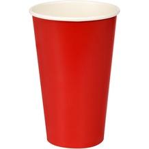 Duni Pappe/ PLA Bio Pappbecher Bio Pappbecher Red Cup 50 cl 10 Stück