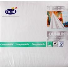 Duni Poesie-Servietten aus Dunilin Motiv Brilliance weiß, 40 x 40 cm, 50 Stück
