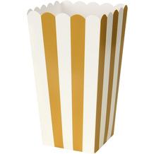 Duni Popcorntüte Pappe 9 x 16 cm Gold Stripe 6er Pack