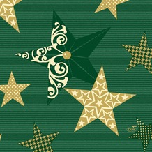 Duni Servietten 3-lagig Motiv Walk of Fame Green 33 x 33 cm 250 Stück
