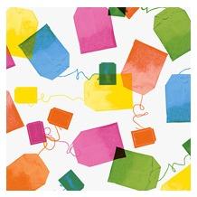 Duni Servietten 3lagig Tissue Motiv Tea Bags, 33 x 33 cm, 20 Stück