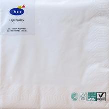 Duni Servietten 3lagig Tissue Uni weiß, 33 x 33 cm