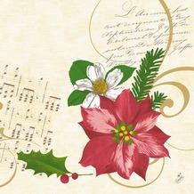 Duni Servietten Motiv Christmas Flower 40 x 40 cm 50 Stück
