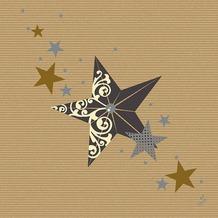 Duni Servietten Motiv Walk of Fame Cream Kraft 40 x 40 cm 50 Stück