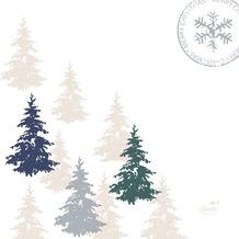 Duni Servietten Tissue 24 x 24 cm Postcard Trees 20er Pack
