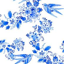 Duni Servietten Tissue Blue bird 33 x 33 cm 20 Stück