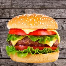 Duni Servietten Tissue Happy burger 33 x 33 cm 20 Stück