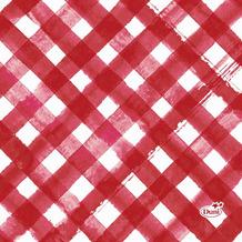 Duni Servietten Tissue Red Checks 24 x 24 cm 20 Stück