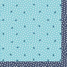 Duni Servietten Tissue Rice Blue 24 x 24 cm 20 Stück