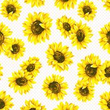 Duni Servietten Tissue Sunflower garden 24 x 24 cm 20 Stück