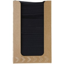 Duni Spenderboxen 1/ 4 Falz Dunisoft 20 x 20 cm Fingerfood Black, 100 Stück