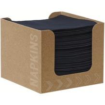 Duni Spenderboxen 1/ 4 Falz Dunisoft 20 x 20 cm Fingerfood Black, 50 Stück