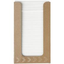 Duni Spenderboxen 1/ 4 Falz Dunisoft 20 x 20 cm Fingerfood White, 100 Stück