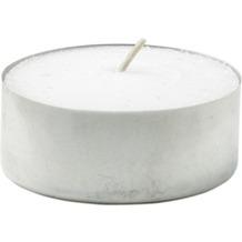 Duni Teelichte mit Metallhülse, ca. 4 Std weiß, 39 mm, 50 Stück