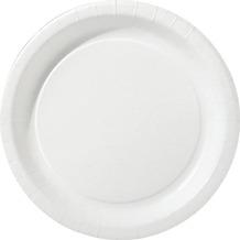 Duni Teller aus Pappe, laminiert, ø 18 cm, weiß, 25 Stück